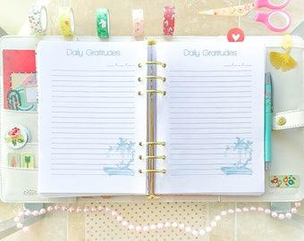 Daily Gratitude Christian Planner A5 Filofax Printable Inspirational Thankful Devotional Daily Journal Printable Planner
