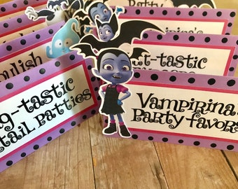 Vampirina Party Food Labels