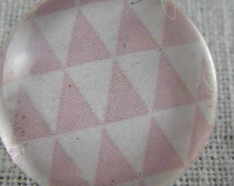 Snap pink and white triangles