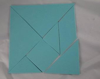 Jeux024 - Foam blue tangram game