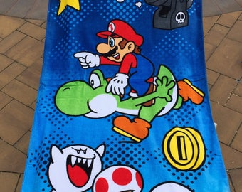 "Super Mario ""Repeat Champion"" Beach Towel Personalized"