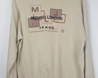 Vintage Michiko London spell out sweatshirt