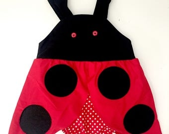 Ladybird Romper/Jumpsuit/ Playsuit for Babies and Toddlers