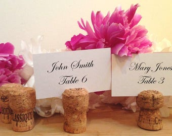 175 Handmade Champagne Cork Place Card Holders for Wedding, Party, Wine Event
