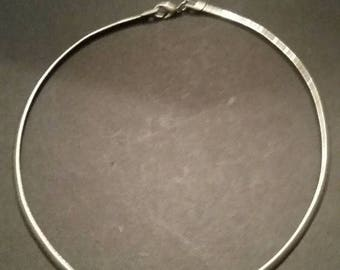 SALE Vintage Silver Coil Necklace Costume Jewelry