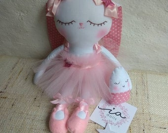 rabbit ballerina 30 cm, 100% handmade
