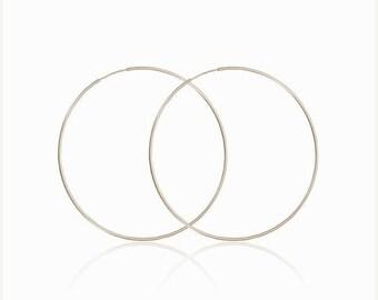 ON SALE 14k gold large hoop earrings