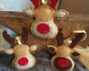 Set of 3 reindeer for Christmas tree