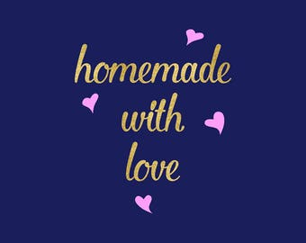 Homemade With Love SVG, Happiness Is Homemade, Made With Love Svg Clipart, Silhouette, Cricut Explore, Make A Cut, Coupon Code: BUY5FOR7
