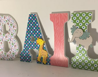 Animal letters for baby nursery