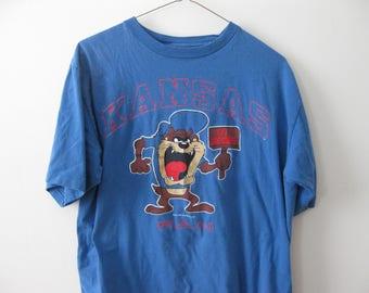 Vintage Kansas University Jayhawks t-shirt Taz Adult Large Medium