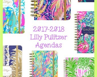 FREE MONOGRAMMING*** Lilly Pulitzer 2017-2018 Monogrammed or Blank Agenda Planner Calendar