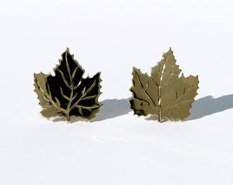 Maple Leaf earrings available in Gold or Silver