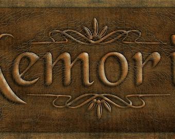 Digital Clipart Memories for signs, labels, boxes etc
