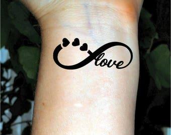 Infinity tattoo temporary tattoo love tattoo heart tattoos wrist tattoo
