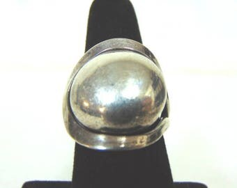 Vintage Estate .925 Sterling Silver Modern Contemporary Ring, 9.6g E3192