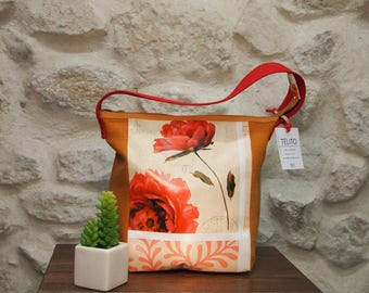 Small bag in oilcloth floral (with lock)
