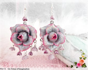 Romantic pink earrings