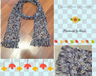 Delicate lacy scarf