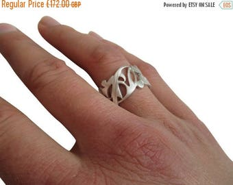 ON SALE Floral Ring Band
