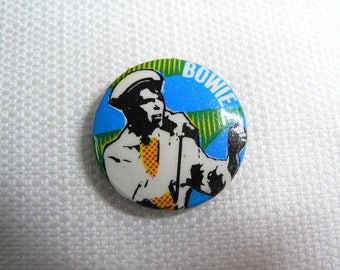 Vintage 70s David Bowie  - Pin / Button / Badge