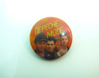 Vintage Early 80s Depeche Mode - Pin / Button / Badge