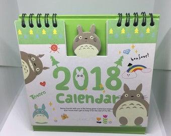 Studio ghibli my neighbour totoro 2018 office desktop calendar memo planner