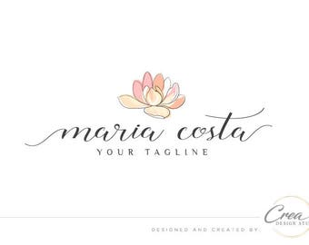 Lotus flower logo, Yoga studio logo design, Spa studio logo, Photography logo design, Nature logo, Natural, Watermark, Business logo # 601