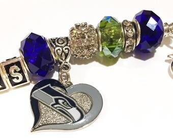 Seattle Seahawks inspired jewelry bracelets