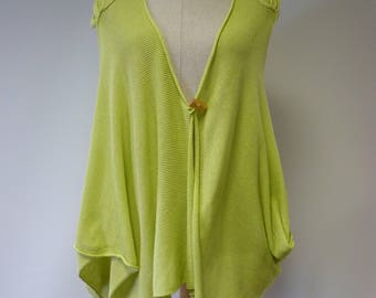 Special price. Lime sorbet coloured cotton vest, L size.
