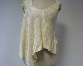The hot price, off-white linen top, S/M size.