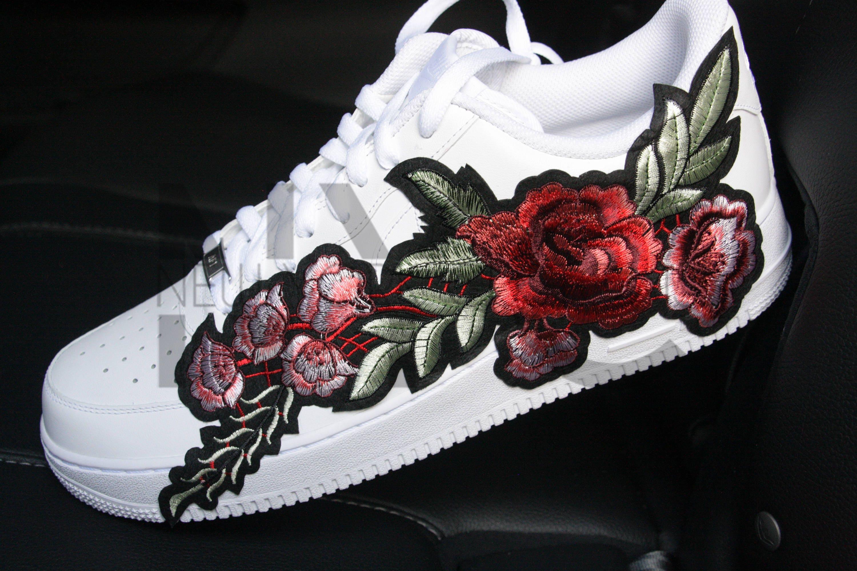 roses nike air force 1 low white custom men women kids. Black Bedroom Furniture Sets. Home Design Ideas