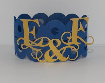 Napkin ring two initials
