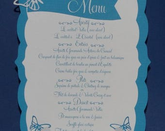 Card menu easel scalloped