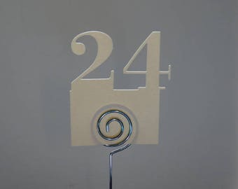 table - number marking of table numbers