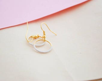Gold plated circle earrings