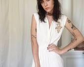 70s Embroidered Gauze Dress