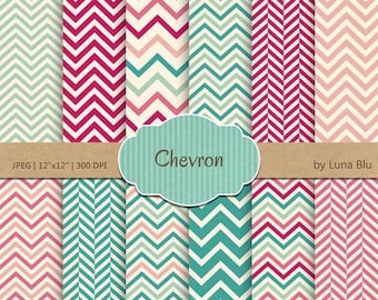 "SALE 50%OFF Chevron Digital Paper: ""Chevron Patterns"" chevron backgrounds for scrapbooking, invites, cardmaking, crafts"