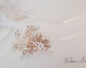 Gold Wedding belt, Gold Bridal belt, Gold bridal sash, Vintage Wedding, Vintage Bride, Bridal Belt, Style 797