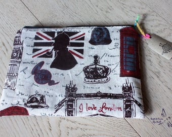 London Zippered Pouch Case