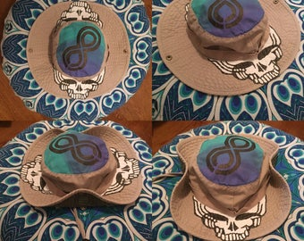 I look to see eternity, the endless rolling sky~ grateful dead and company steal your face lockn festival boonie hat