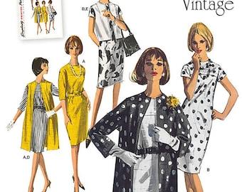 Simplicity 1284 Dress Pattern  - Misses' Vintage 1960s Dress, Coat & Vest Sewing patterns- Simplicity Patterns