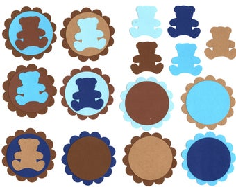 Digital Teddy Bear Cupcake Toppers & Tags- Printable ClipArt, Party Clipart, Digital ClipArt, Digital Die Cut,Tag ClipArt, Scrapbook ClipArt