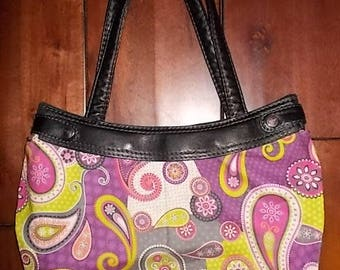 New Thirty-one Purse Skirt for Small Purse Pink, Green, & Purple Paisly 31 Gifts