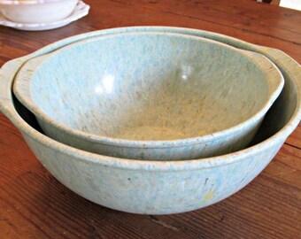 vintage melamine spatterware bowls