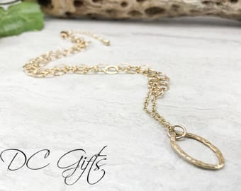 Gold Necklace, Handmade Jewelry, Gold Jewelry, Handmade Necklace, 14k Gold-fill Necklace, Handmade Hammered Necklace, Christmas Gift