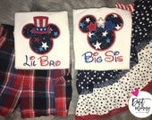 July 4th | Memorial Day | Independence Day | Labor Day | America | Epcot Vacation | Disney Family Shirts | Big Little Baby | Bro Sis
