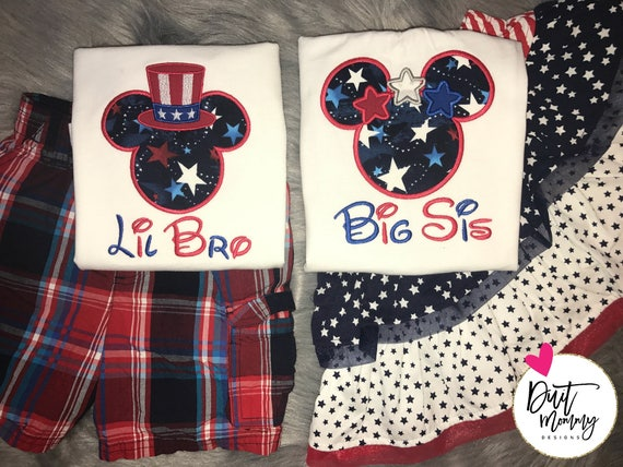 July 4th   Memorial Day   Independence Day   Labor Day   America   Epcot Vacation   Disney Family Shirts   Big Little Baby   Bro Sis