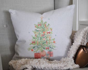Farmhouse Christmas Pillow Cover | Christmas Tree Pillow Cover | Farmhouse Throw Pillow | Rustic Christmas Farmhouse Pillow Cover