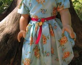 "18"" Doll Dress, fits like AG clothes, floral"